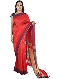 Bihar Khadi Women's Silk Saree (BKSKSRW0009, Red)