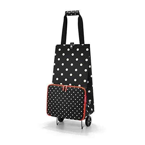 Reisenthel foldabletrolley Mixed Dots Sac de Voyage 66 Centimeters 30 Noir (Mixed Dots)