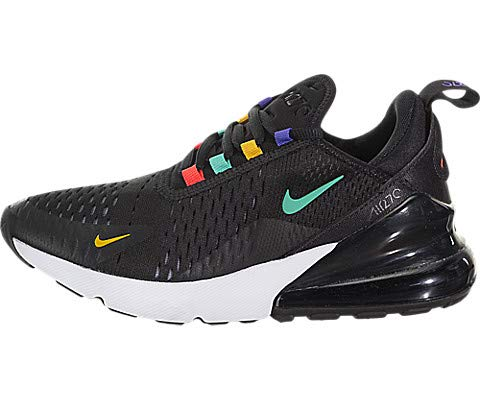 Nike Damen W AIR MAX 270 Traillaufschuhe, Mehrfarbig (Black/Flash Crimson-University Gold 023), 38.5 EU