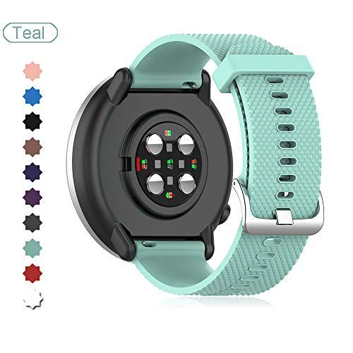 Buwico Armband Kompatibel mit Polar Ignite Watch, Ersatz Silikon Uhrenarmbänder Handgelenk Armbänder Fitness Uhrband Sport Uhr Wechselarmbänder für Polar Ignite Smartwatch (Blaugrün, Small)