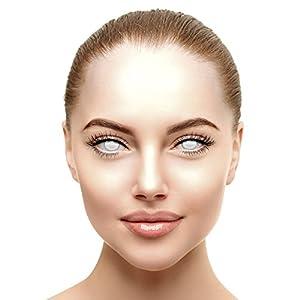 Halloween Farbige Kontaktlinsen Ohne Stärke Blind Zombie Weiß (Tageslinsen)