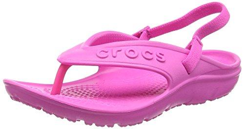 crocs Crocs Hilo Flip K NMgta, Unisex-Kinder Pantoffeln, 22-23 EU, Rosa (Neon Magenta 6L0)