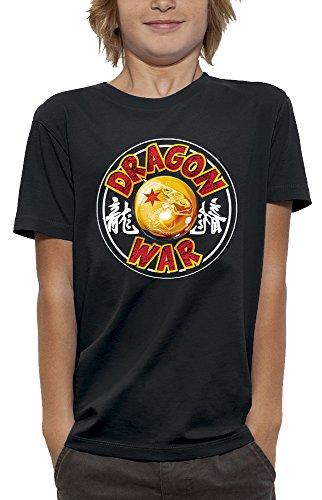 PIXEL EVOLUTION Camiseta 3D Dragon War en Realidad Aumentada Niño - tamaño 9/11 años - Negro