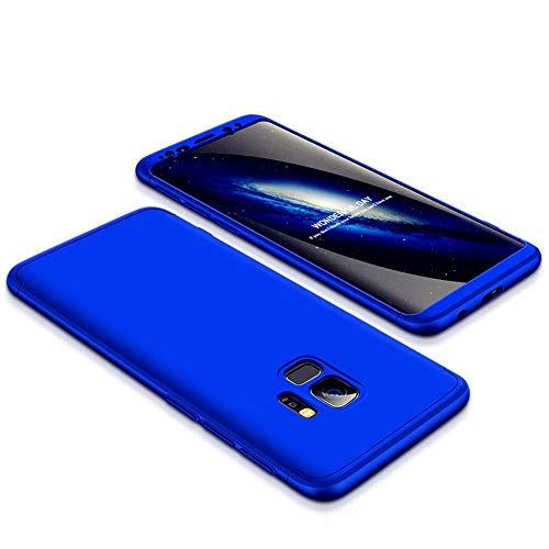 JJWYD Custodia a Samsung Galaxy S9 Case Cover originale a 360 gradi Protezione Leggero Bumper Protettiva Caso+Non incluso Pellicola Protettiva - Blu