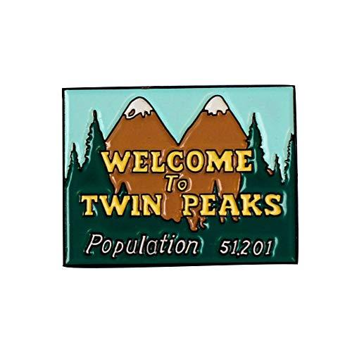 Willkommen bei Twin Peaks weicher Emaille Pin am Revers Abzeichen