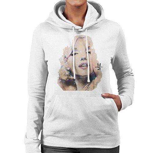 Sidney Maurer Marilyn Monroe Official Womens Hooded Sweatshirt white