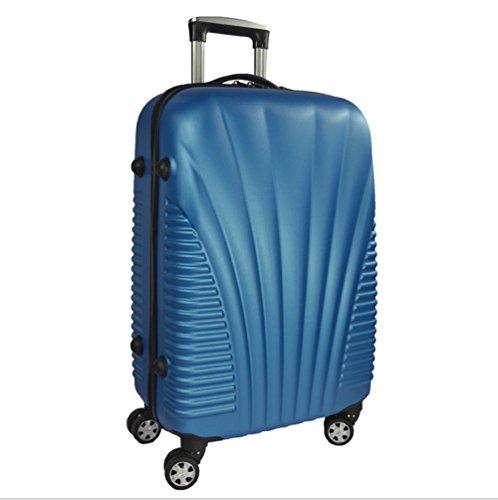 Xiuxiandianju ABS materiale esterno viaggio bagagli Trolley Case 20/24/28 pollici partita caso SuitcaseColour & formato differente (56-75L) , blue , 20 inch