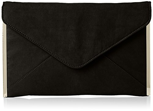 SwankySwans Damen Louis Suede Slim Envelope Party Prom Clutch Bag Tasche, Schwarz (Schwarz), One Size (Velvet Green Tasche)