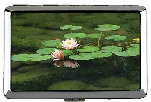 Yanteng Butterfly schöne Lotus Blume Hard Box volle Packung zigarettenetui Lotus Clip offene Tasche Halterung für 14 Zigaretten