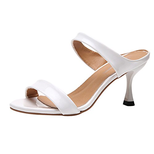 Strungten Frauen Fischmaul Open Toe Stiletto High Heel Sandalen Casual Party Sandalen und Hausschuhe Outdoor Freizeit Strand Sandalen