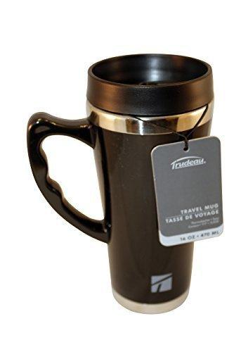 Trudeau Travel Mug (Trudeau Black 16 Ounce Travel Mug by Trudeau)