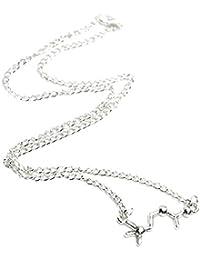 Beaux Bijoux Acetilcolina molécula Collar – Tono de Plata Collar de ADN – Love Bioquímica Molecule
