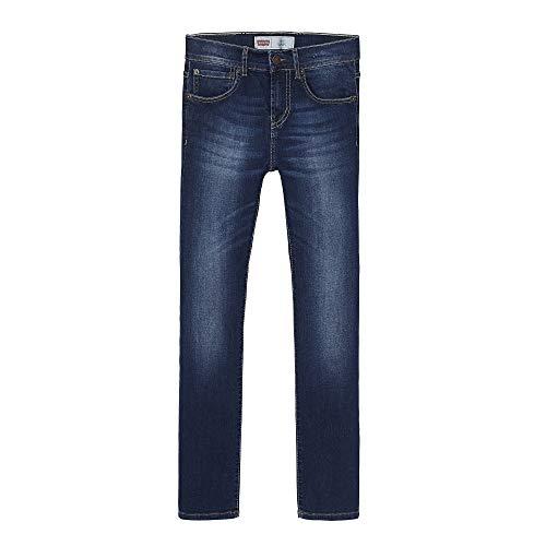 Levis Kids Jungen Jeans Levi's® Jean 510TM Skinny Fit Einfarbig, Gr. 140 cm (Herstellergröße: 10 Jahre), Blau (INDIGO 46) (Skinny-jeans Für Jungen)