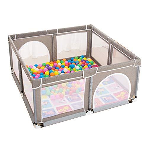 Laufstall Große tragbare Baby-Playpens 8-Panel grau, gefalteter