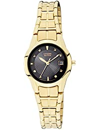 Citizen Eco-Drive Analog Black Dial Women's Watch EW1412-54E