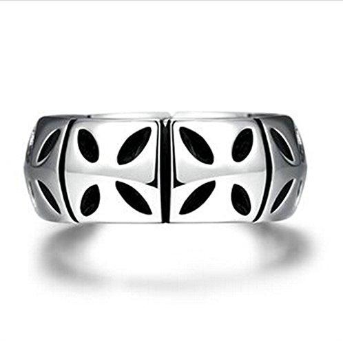 Aeici Silber Ring für Männer und Frauen Modestil Geometrie Größe 65 (20.7)