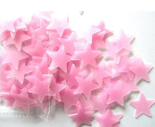 Tuscom Fluoreszierend Sterne, Kunstnägel, Kinder Schlafzimmer, 3x3cm/1.19