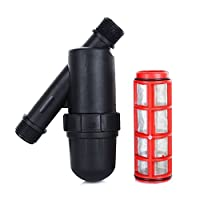 Tbest Screen Irrigation Filter Inline Filter, 3/4 Inch Stainless Steel Mesh Water Conditioning Strainer for Gardening Agriculture Filter Drip Irrigation Tank Pump