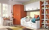 ambiato Kinderzimmer Vita 36 Eckkleiderschrank Regalsystem Bett mit Gästebett Schreibtisch,Farben und Griffe frei wählbar