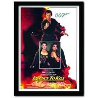 James Bond License to Kill One Sheet A3 Framed Print