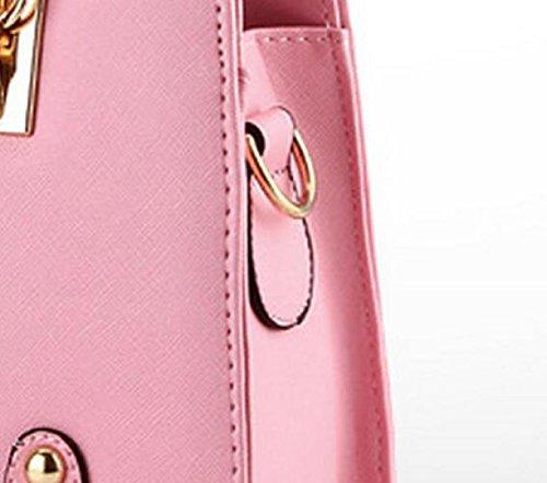 Damen-Ketten-Mode Kuriertasche Schultertasche Handtasche Niet Kleine Quadratische Tasche Purple