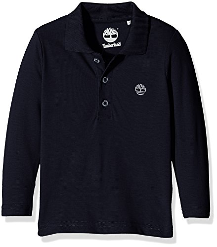 Timberland T25L07 Long Sleeve Polo, T-Shirt Bambino, Blu (Navy), 8 Anni