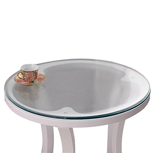Nappe Ronde En Verre Souple PVC Givré Étanche Table Mat Table De Mat Table En Nappe En Plastique ( Couleur : Thickness -1.5mm , taille : Diameter 130 cm )