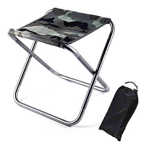 Magiin Outdoor Kompakter Hocker Klappbar, Camping Aluminium Klapphocker Faltbar, Campinghocker für den Garten, Strand und zum Camping