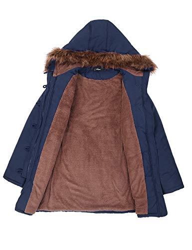 iClosam Cappotti Donna Lunghi Cappotti Donna Invernali Eleganti Pelliccia Interna Cappotti Donna con Cappuccio