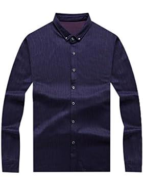 La Camisa De Los Hombres Aumenta La Camisa Floja Del Negocio De La Hebilla Del Cuello Camisa Salvaje De La Camisa
