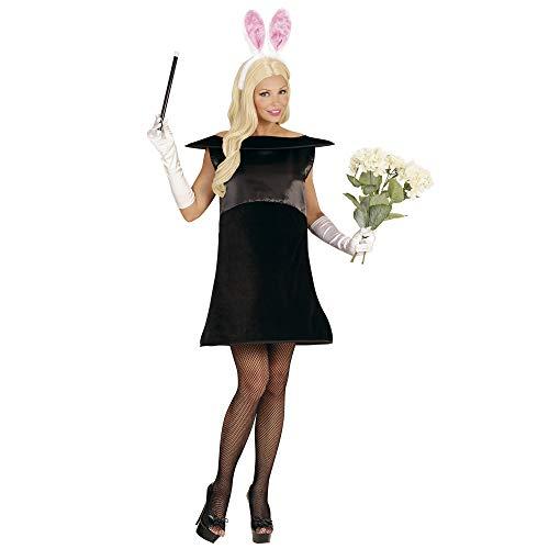 WIDMANN 02879 - Erwachsenenkostüm Magisches Kaninchen, Kleid und Ohren, schwarz, Größe L / ()