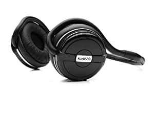 Kinivo BTH240 Bluetooth Stereo Headphone – Supports Wireless Music Streaming and Hands-Free Calling (Black)