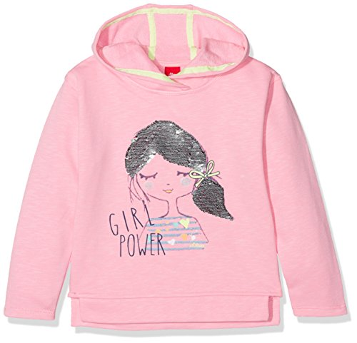 s.Oliver Mädchen Sweatshirt 53.802.41.4877, Rosa (Light Pink 4400), 92 (Herstellergröße: 92/98) (Modell 4400)