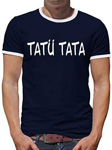 TLM Tatü Tata Kontrast T-Shirt Herren XXXL (Kostüme Party Halloween Stadt Polizei)