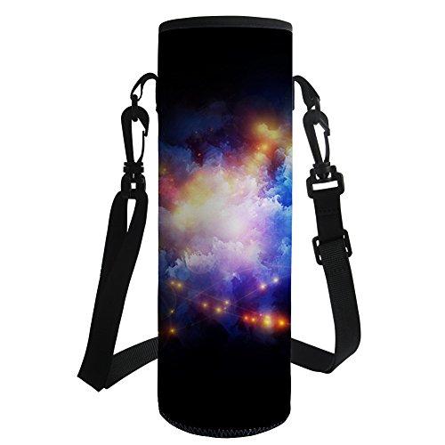 Coloranimal Universe Galaxy Print Neopren Wasser Flasche Fall Inhaber Geldbörse Tasche, damen, universe galaxy-1, 9.5cmx9.5cmx26cm (Geldbörse Inhaber Fall)