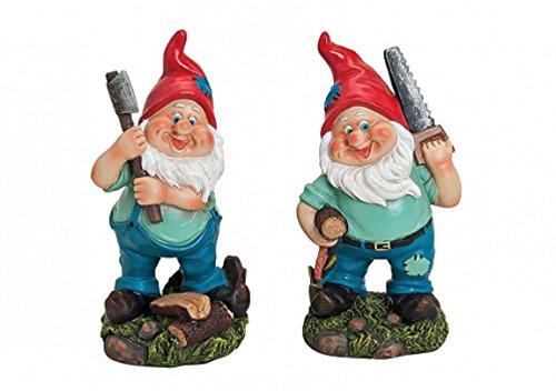 Geschenkestadl 2 er Set Fleißige Gartenzwerg Figuren je 10 x 7 x 20 cm