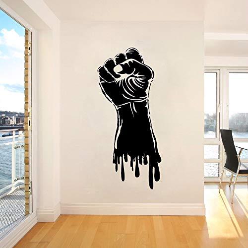 Preisvergleich Produktbild WWYJN Vinyl Wall Decal Fist Hand Strength Power Wall Sticker Gym Sports Decor Fist Hand Style Wall Art Poster Strength Stickers 42x93cm