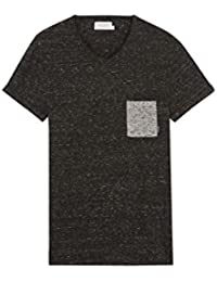 ELEVEN PARIS - Herren- Grau meliertes T-Shirt Rabico mit Tasche für herren