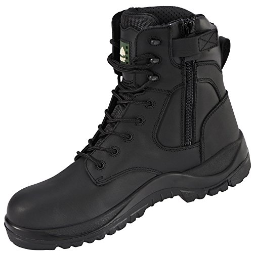 1fe516698d0 Rock Fall Melanite RF333 Waterproof Wide Fit Zip up Non Metallic Safety  Boots (UK 10)