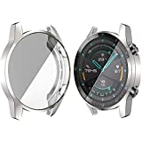 Case Compatible with Huawei Watch GT 2 46MM, Soft TPU Plated Case Cover All-Around Protective Bumper Shell Protector for Huaw