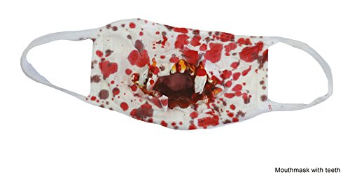Karneval Klamotten Mundschutz mit Blut blutig-e Mundschutz Zombie Horror für Krankenschwester Doktor Halloween