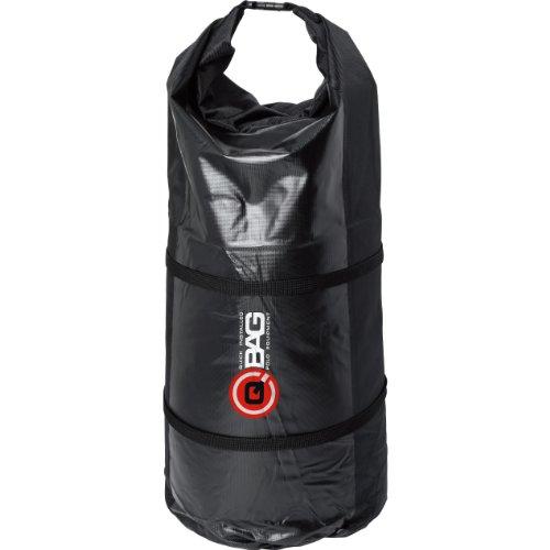 QBag Motorrad-Hecktasche Gepäckrolle wasserdicht 01, staubdicht, großes Hauptfach, inklusive Zwei Kompressionsgurte, variierbar in der Länge, Schwarz, 50 Liter