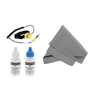 Arctic Silver 5 – 60ml ArctiClean-Kit (30 ml ArctiClean 1 + 30 ml ArctiClean 2) und Mikrofaser-Reinigungstuch (17,8 x 15,2 cm)
