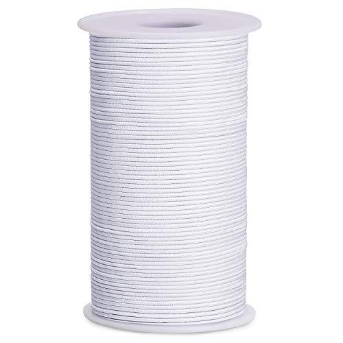 TOBWOLF 2 mm elastische Schnur Faden Perlen Linien für Schmuckherstellung, Haargummis, DIY Handwerk Armbänder Halsketten Perlen 100 Meter/Rolle schwarz (Perlen-schnur Mm 2 Elastisches)