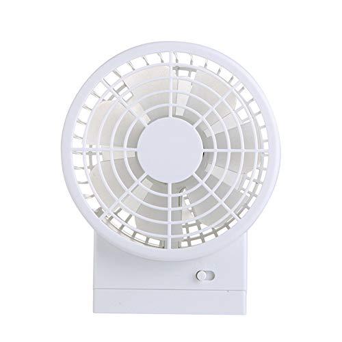 HCDMRE Kleiner persönlicher USB Fan Quiet Compact Desk Fan mit Twin Powerful Turbo Blades,2 Speeds, Adjustable Head for Home, Office, Travel,White