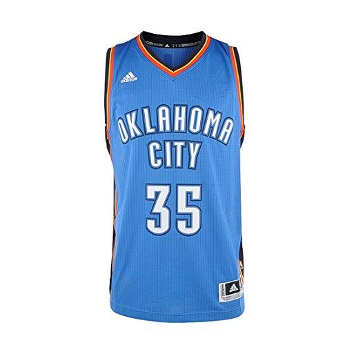 adidas Herren Basketball Oklahoma City Thunder Swingman Trikot, Weiß/Blau, M, A46194