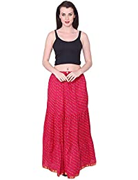 Decot Paradise Women Cotton Multi Color Long Skirt