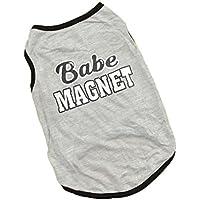 """Camiseta de verano CY-buity para perro con el texto en inglés """"Hug Me Kiss Me"""", diseño a rayas"""