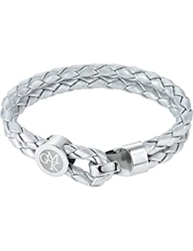 GMK Collection by CHRIST Damen-Armband Edelstahl/Lederimitat One Size, silber