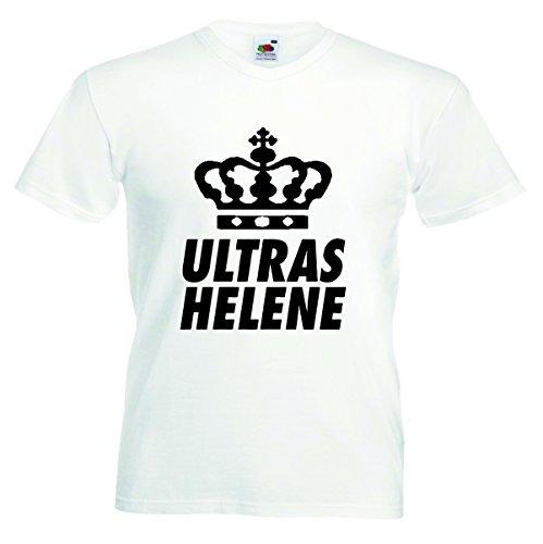 Helene Herren T-Shirt Motiv02 T-Shirt Weiss 4XL
